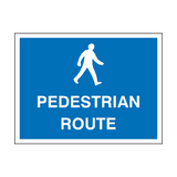 Pedestrian Route Sign - PVC Safety Signs
