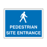 Pedestrian Site Entrance Sign - PVC Safety Signs
