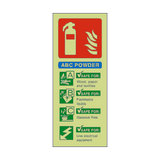 ABC Powder Fire Extinguisher Photoluminescent Sign - PVC Safety Signs