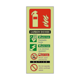 Carbon Dioxide Fire Extinguisher Photoluminescent Sign - PVC Safety Signs