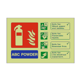 ABC Powder Extinguisher Photoluminescent Sign - PVC Safety Signs