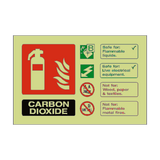 Carbon Dioxide Extinguisher Photoluminescent Sign | PVC Safety Signs | Health and Safety Signs