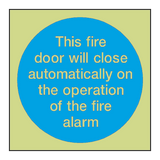 Auto Fire Alarm Photoluminescent Sign - PVC Safety Signs