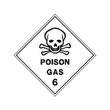 Poison Gas Sign | PVC Safety Signs | Health and Safety Signs