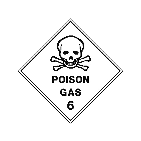 Poison Gas Sign | PVC Safety Signs