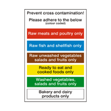 Prevent Cross Contamination Sign - PVC Safety Signs