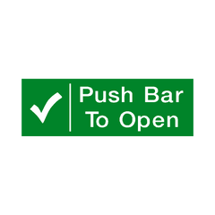 Push Bar To Open Sign - PVC Safety Signs | Safety Signs Specialists