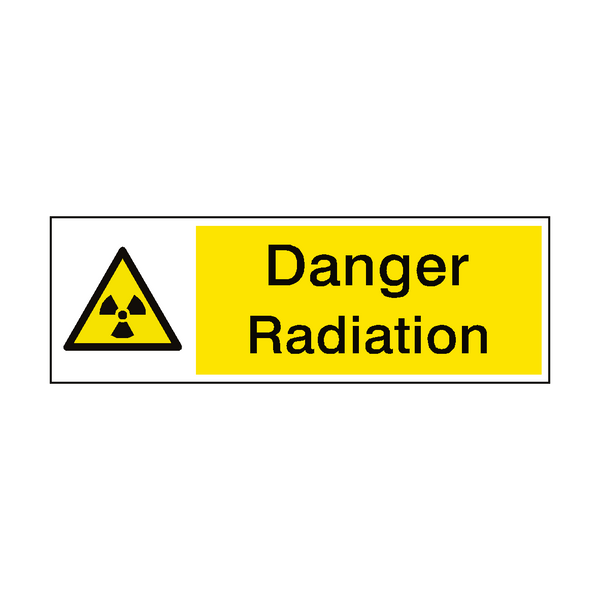 Radiation Risk Hazard Sign - PVC Safety Signs