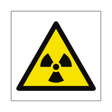 Radioactive Material Symbol Sign | PVCSafetySigns.co.uk