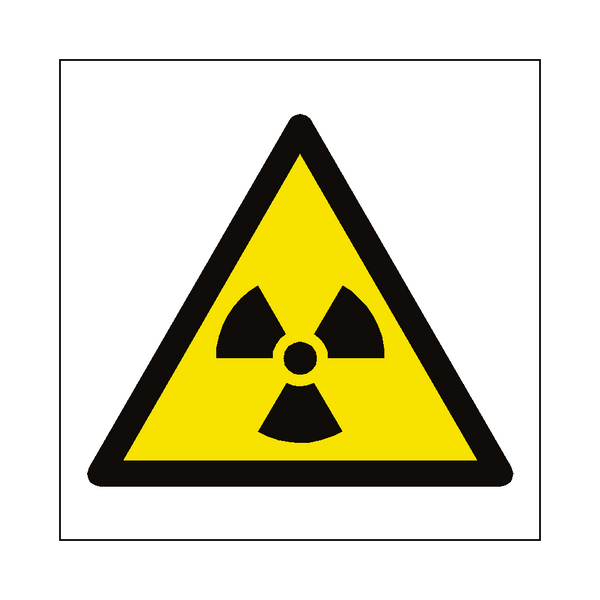 Radioactive Material Symbol Sign | PVC Safety Signs