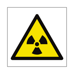 Radioactive Material Symbol Sign | PVC Safety Signs | Health and Safety Signs