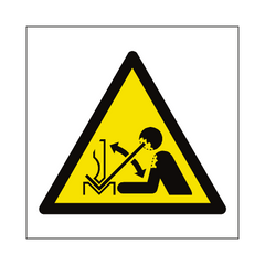 Rapid Movement of Workpiece in Press Brake Hazard Symbol Sign | PVC Safety Signs | Health and Safety Signs