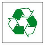 Recycling Symbol Sign - PVC Safety Signs
