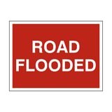 Road Flooded Traffic Sign - PVC Safety Signs