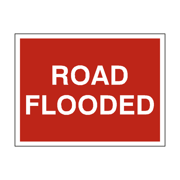 Road Flooded Traffic Sign | PVC Safety Signs