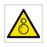 Rotating Rollers Hazard Symbol Sign | PVCSafetySigns.co.uk