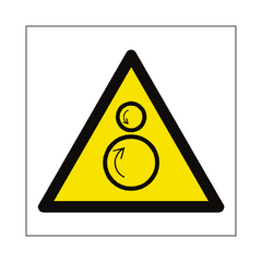 Rotating Rollers Hazard Symbol Sign | PVC Safety Signs | Health and Safety Signs