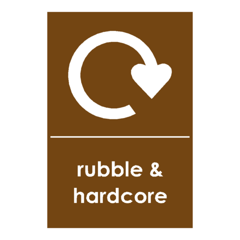 Recycling Hardcore & Rubble Sign | PVC Safety Signs
