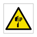 Sharp Hazard Symbol Sign | PVCSafetySigns.co.uk