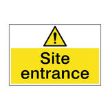Site Entrance Hazard Sign | PVCSafetySigns.co.uk