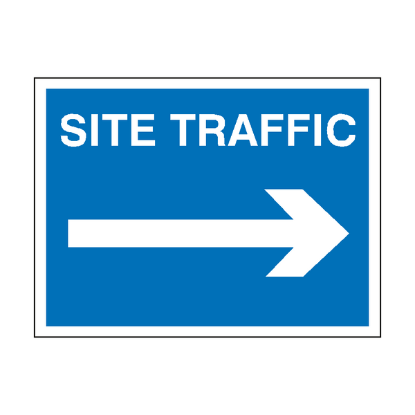 Site Traffic Arrow Right Sign | PVC Safety Signs