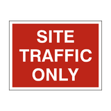 Site Traffic Only Sign - PVC Safety Signs