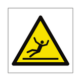Slippery Floor Hazard Symbol Sign | PVCSafetySigns.co.uk