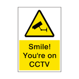 Smile Your On CCTV Sign | PVCSafetySigns.co.uk