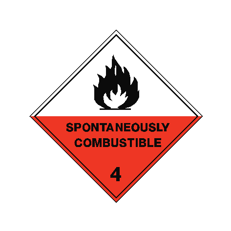 Spontaneously Combustible Sign | PVCSafetySigns.co.uk