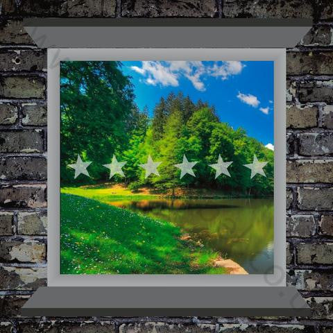 Frosted Stars Window Film - PVC Safety Signs