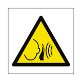 Sudden Loud Noise Symbol Sign | PVCSafetySigns.co.uk