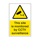Site Monitored By CCTV Security Sign | PVC Safety Signs