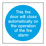 Auto Fire Alarm Sign | PVCSafetySigns.co.uk