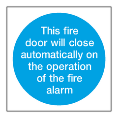 Auto Fire Alarm Sign