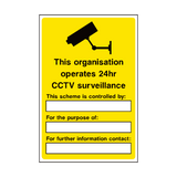 General CCTV Security Sign - PVC Safety Signs