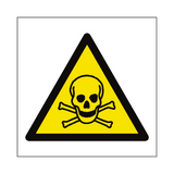 Toxic Material Hazard Symbol Sign | PVC Safety Signs