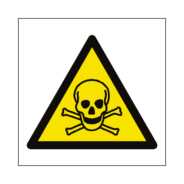 Toxic Material Hazard Symbol Sign - PVC Safety Signs