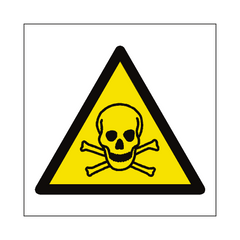 Toxic Material Hazard Symbol Sign | PVC Safety Signs | Health and Safety Signs