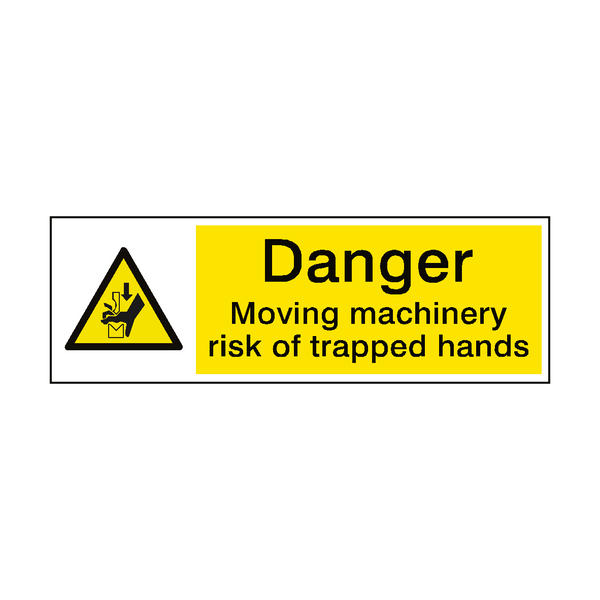 Trapped Hands Hazard Sign | PVC Safety Signs