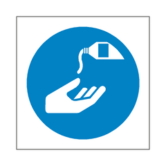 Use Barrier Cream Symbol Sign | PVC Safety Signs | Health and Safety Signs