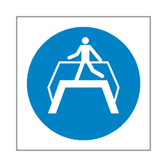 Use Footbridge Symbol Sign | PVC Safety Signs | Health and Safety Signs