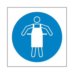 Use Protective Apron Symbol Sign | PVC Safety Signs | Health and Safety Signs
