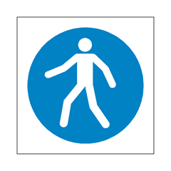 Use Walkway Symbol Sign | PVC Safety Signs | Health and Safety Signs