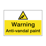 Warning Anti-Vandal Paint Hazard Sign | PVC Safety Signs