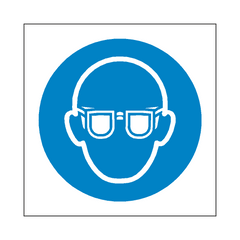 Wear Eye Protection Symbol Sign | PVC Safety Signs | Health and Safety Signs