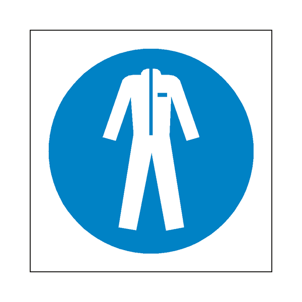 Wear Protective Clothing Symbol Sign | PVCSafetySigns.co.uk