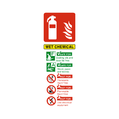 Wet Chemical Fire Extinguisher Sign | PVC Safety Signs | Health and Safety Signs