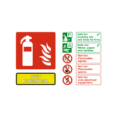 Wet Chemical Extinguisher Sign | PVC Safety Signs | Health and Safety Signs