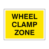 Wheel Clamp Zone Sign - PVC Safety Signs