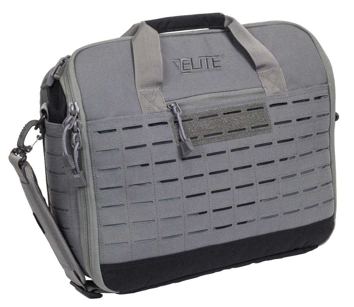CCW messenger bag in wolf gray color, exterior image